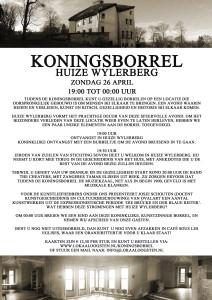 Pamflet Koningsborrel programma